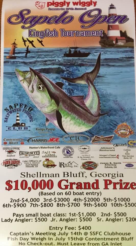 Sapelo Open kingfish Tournament @ Shellman Bluff